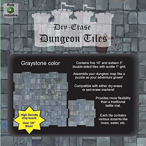 Role 4 Initiative DRY ERASE DUNGEON TILES: GRAYSTONE COMBO PACK