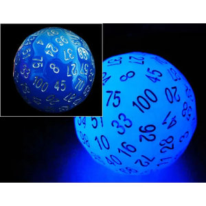 Foam Brain Games DICE D100 GLOW-IN-THE-DARK