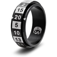 D20 DICE RING, BLACK