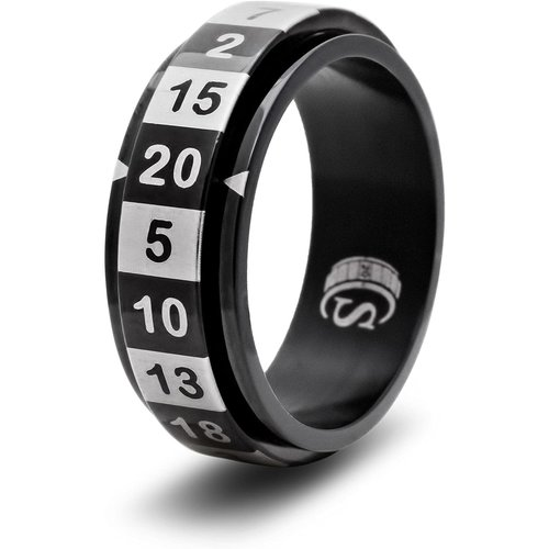 Critsuccess LLC D20 DICE RING, BLACK