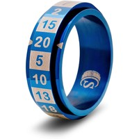 D20 DICE RING, BLUE