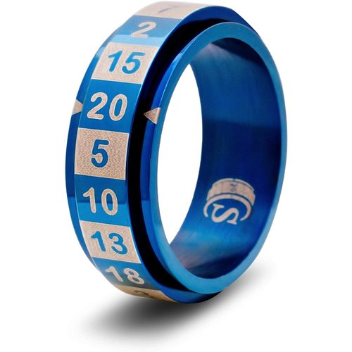 Critsuccess LLC D20 DICE RING, BLUE