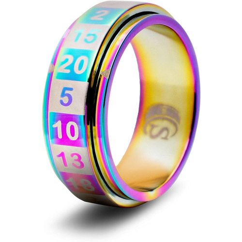 Critsuccess LLC D20 DICE RING, RAINBOW