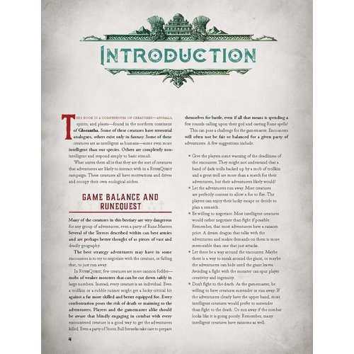 Chaosium RUNEQUEST RPG: GLORANTHA BESTIARY