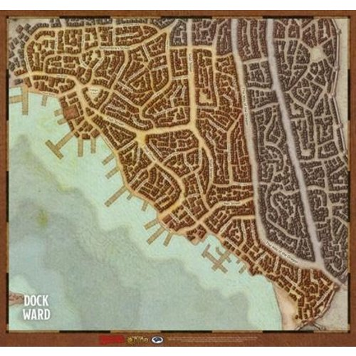 Gale Force Nine D&D 5E: WATERDEEP - WARDS MAP SET