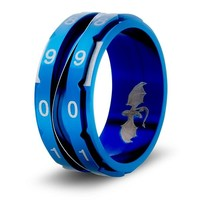 CLICKING LIFE COUNTER RING, BLUE