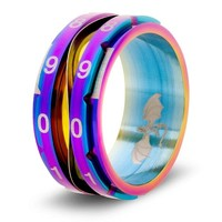 CLICKING LIFE COUNTER RING, RAINBOW