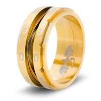 CLICKING LIFE COUNTER RING, GOLDEN