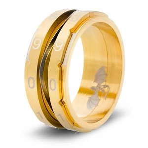 Critsuccess LLC CLICKING LIFE COUNTER RING, GOLDEN