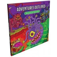D&D: ADVENTURES OUTLINED COLORING BOOK