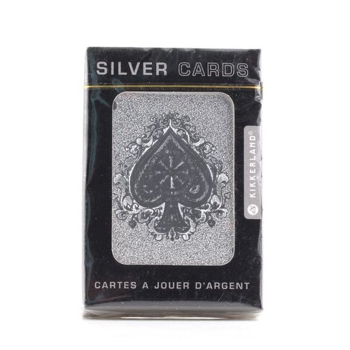 Kikkerland SILVER PLAYING CARDS