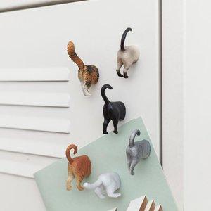 Kikkerland MAGNET CAT BUTTS (6)