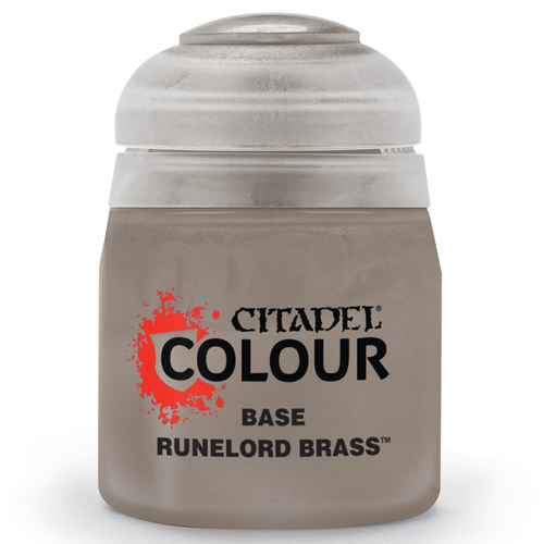 Games Workshop CITADEL PAINT (BASE): RUNELORD BRASS