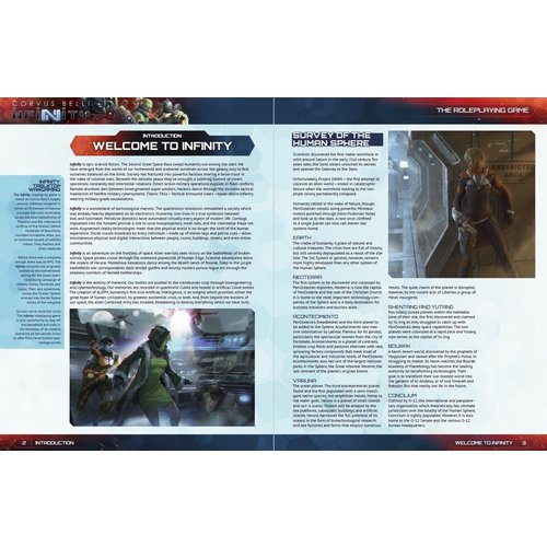 Modiphius INFINITY PLAYER'S GUIDE