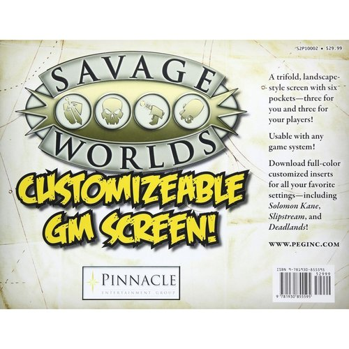 Pinnacle Entertainment Group SAVAGE WORLDS: CUSTOMIZABLE GM SCREEN