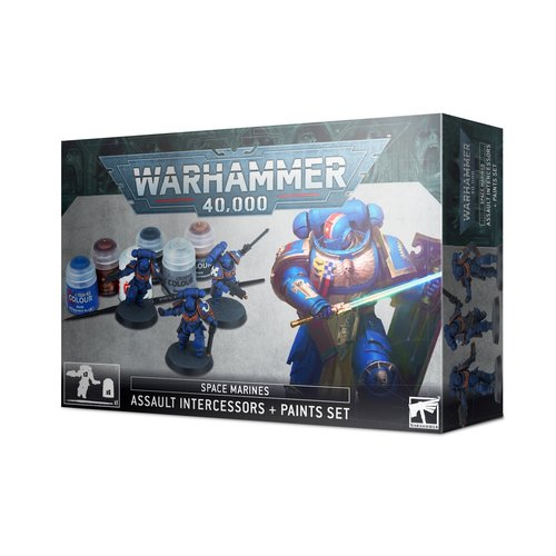 Games Workshop 40K SM ASSAULT INTERCESSORS PAINT SET