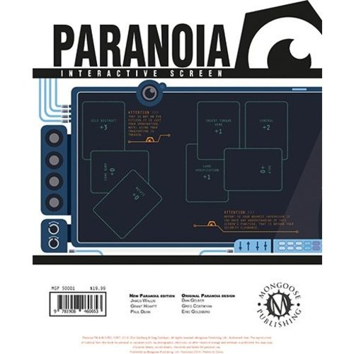 Mongoose Publishing PARANOIA RPG INTERACTIVE SCREEN