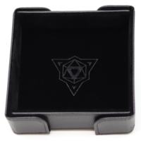DICE TRAY: MAGNETIC BLACK SQUARE