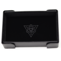 DICE TRAY: MAGNETIC BLACK RECTANGLE