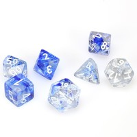 DICE SET 7 NEBULA: DARK BLUE