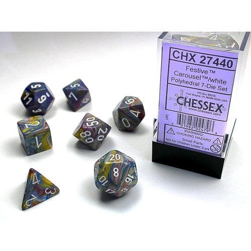 Chessex DICE SET 7 FESTIVE CAROUSEL