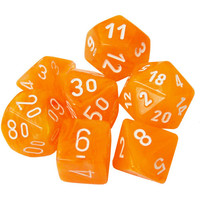 DICE SET 7 FESTIVE FLARE/WHITE