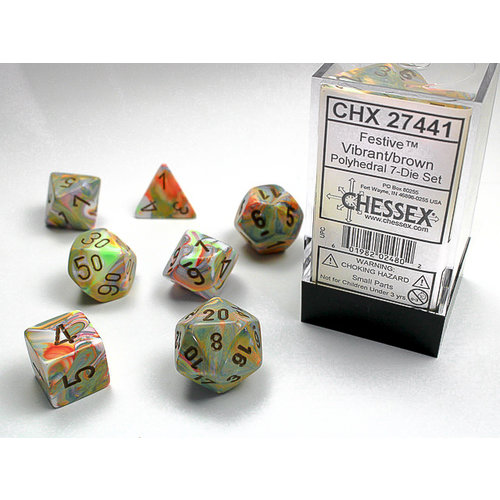 Chessex DICE SET 7 FESTIVE VIBRANT