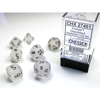 DICE SET 7 FROSTED CLEAR