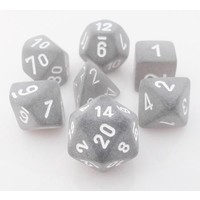 DICE SET 7 FROSTED SMOKE W/ WHITE