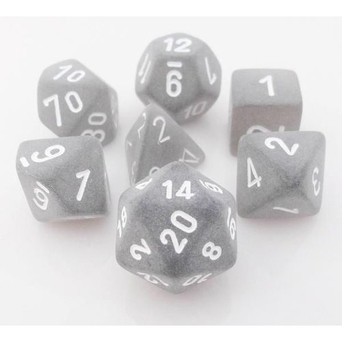 Chessex DICE SET 7 FROSTED SMOKE W/ WHITE