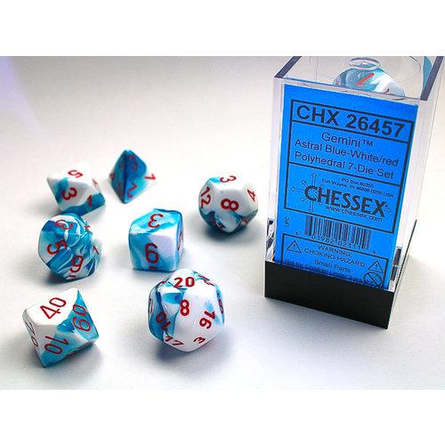 Chessex DICE SET 7 GEMINI ASTRAL BLUE