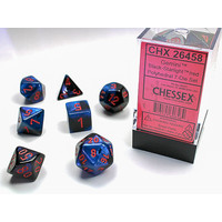 DICE SET 7 GEMINI BLACK STARLIGHT