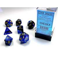 DICE SET 7 GEMINI BLACK-BLUE