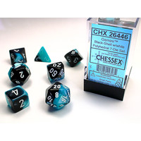 DICE SET 7 GEMINI BLACK-SHELL