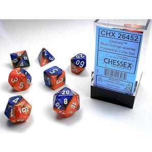 Chessex DICE SET 7 GEMINI BLUE-ORANGE