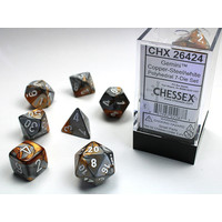 DICE SET 7 GEMINI COPPER-STEEL