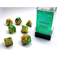 DICE SET 7 GEMINI GOLD-GREEN