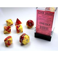 DICE SET 7 GEMINI RED-YELLOW
