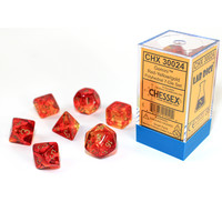 DICE SET 7 GEMINI: RED / YELLOW / GOLD