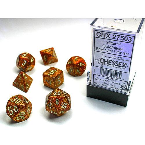 Chessex DICE SET 7 GLITTER: GOLD