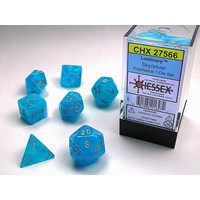 DICE SET 7 LUMINARY SKY/SILVER