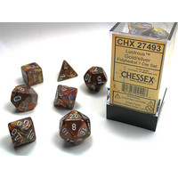 DICE SET 7 LUSTROUS GOLD