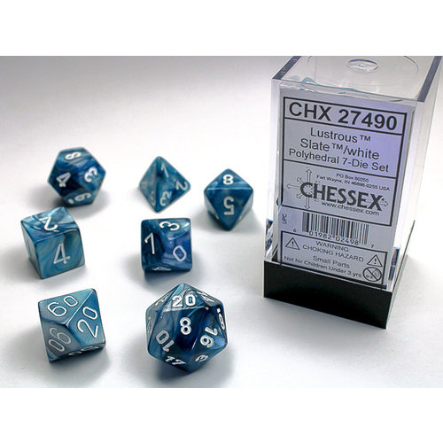 Chessex DICE SET 7 LUSTROUS SLATE
