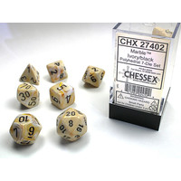 DICE SET 7 MARBLE IVORY
