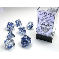 DICE SET 7 NEBULA BLACK
