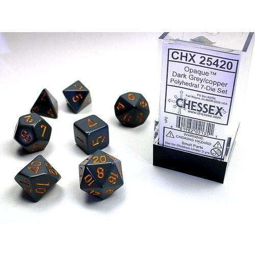 Chessex DICE SET 7 OPAQUE DARK GREY