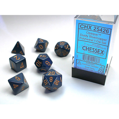 Chessex DICE SET 7 OPAQUE DUSTY BLUE
