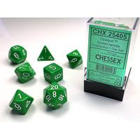 DICE SET 7 OPAQUE GREEN