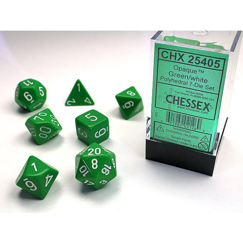 Chessex DICE SET 7 OPAQUE GREEN