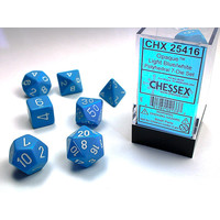 DICE SET 7 OPAQUE LIGHT BLUE